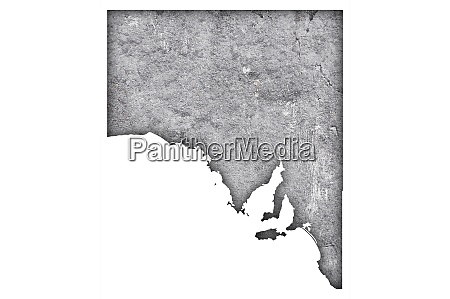 map of south australia on weathered