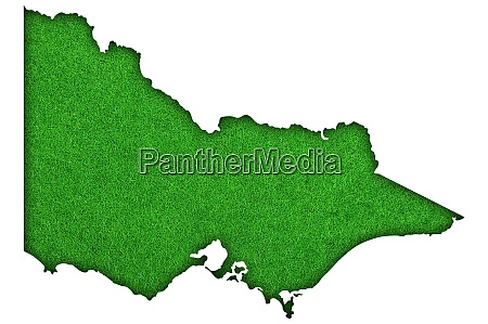 map of victoria on green felt