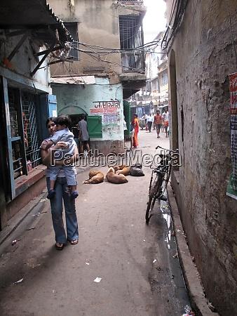 street of kolkata west bengal india