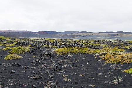 iceland landscape near hverfell volcano iceland