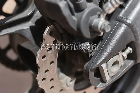 rear brake disc of a sports