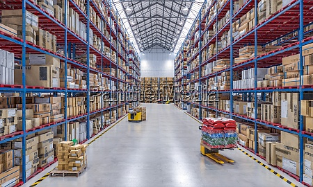 large warehouse full of goods and