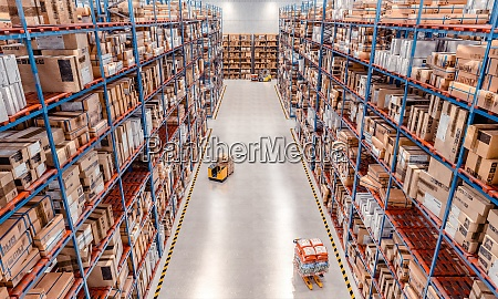 interior of a large warehouse with