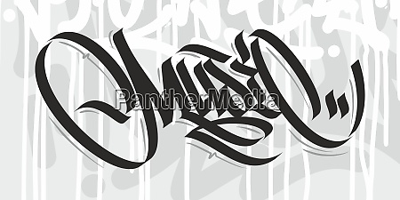 abstract word music graffiti font lettering