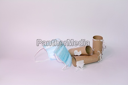 blank toilet paper roll and protective