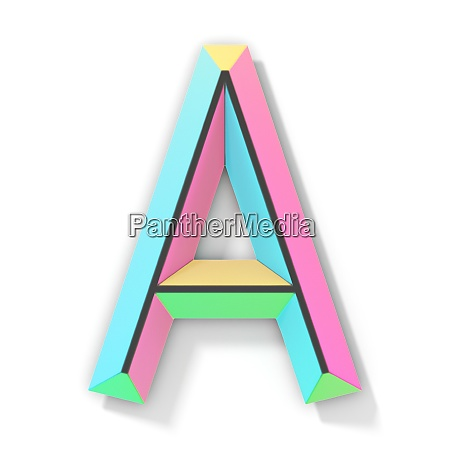 neon color bright font letter a