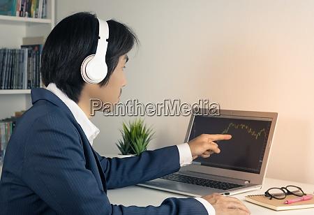 asian forex trader or investor trading