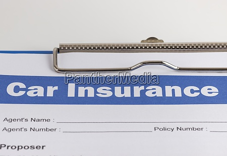 car insurance claim form or insurance