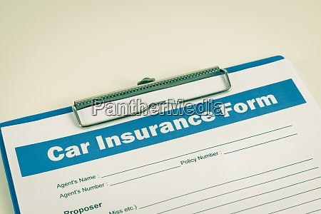 car insurance claim form or insurance
