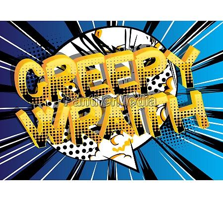creepy wraith comic book style cartoon