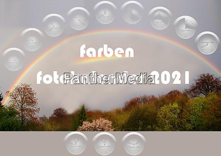 colours photo calendar 2021