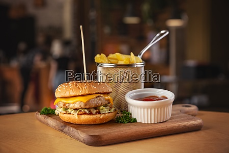 delicious grilled chicken burger