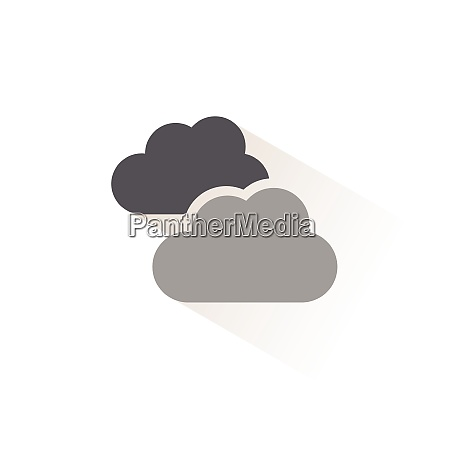 clouds overcast isolated color icon weather