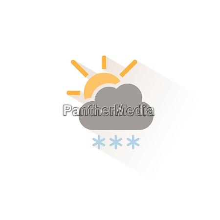 heavy snow cloud and sun isolated