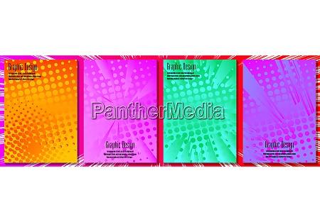 halftone cover design templates
