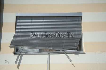 awning or marquee as sun protection