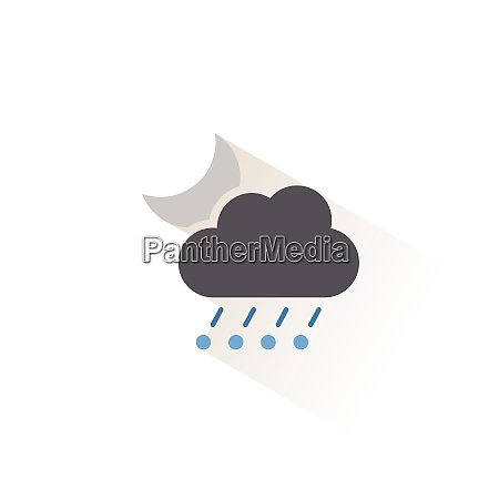 rain and hail cloud and moon