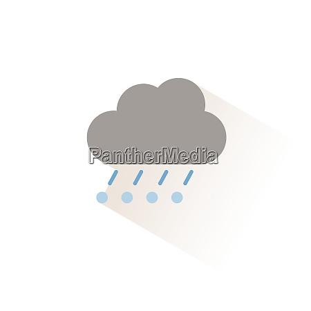 rain hail and cloud isolated color