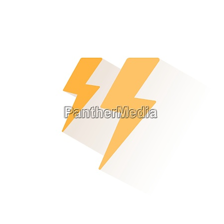 lightning storm isolated color icon weather
