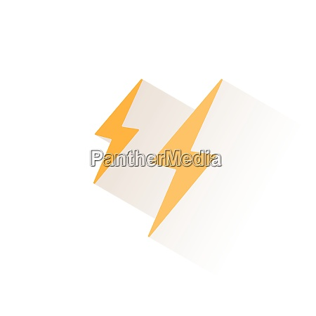 lightning isolated color icon weather glyph