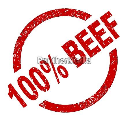 100 percent beef