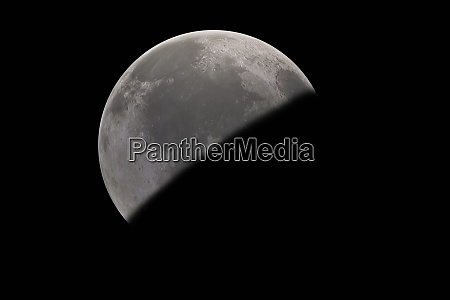 moon planet in outer space showing