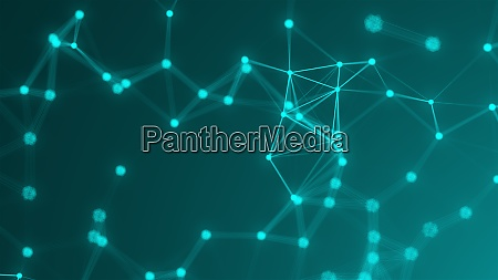 abstract connection dots technology background network