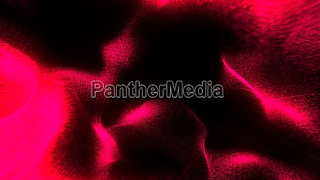 defocused illuminated particles of wrinkled cloth