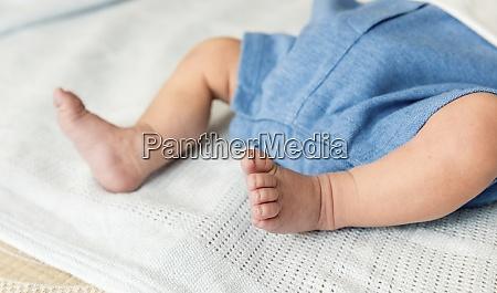 closeup of a newborn baby feet