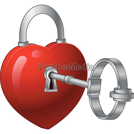 unlock heart with a silver key