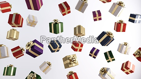 christmas presents with white copy space