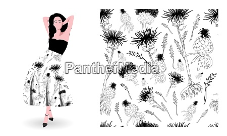 print textile fabric design cool floral
