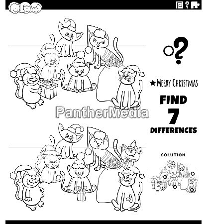 differences game with kittens on christmas