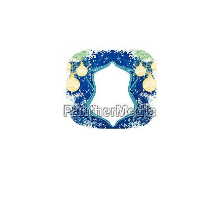 elegant frame with baubles decorative