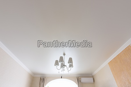 classic white matte ceiling in the