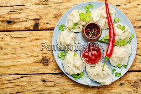 khinkali or georgian dumpling