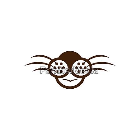 animal face design icon