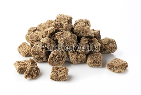 brown sugar placed on a white