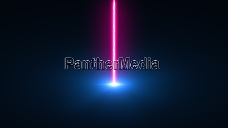 laser beam falls from top to