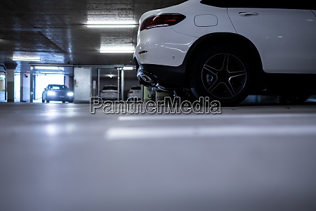 underground parking cars parked in a
