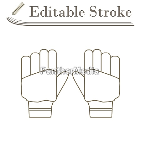 pair of cricket gloves icon