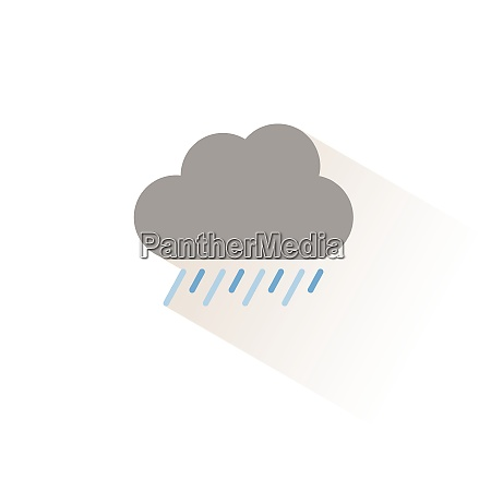 heavy rain and cloud isolated color