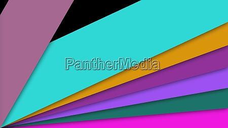 colorful shapes transition 3d render