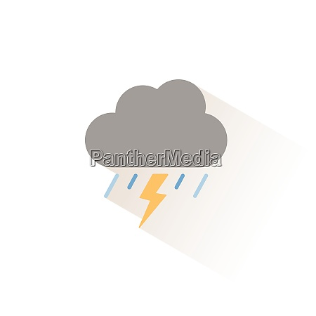 storm and heavy rain isolated color