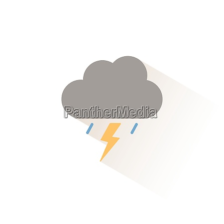 storm isolated color icon weather vector