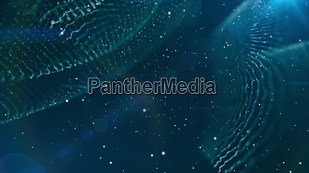 dof particles beautiful wavy surface with