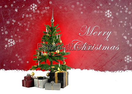 christmas greeting card with a decorated