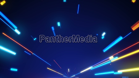 bright neon lines loop modern neon