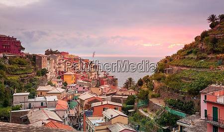 village of manarola sunset