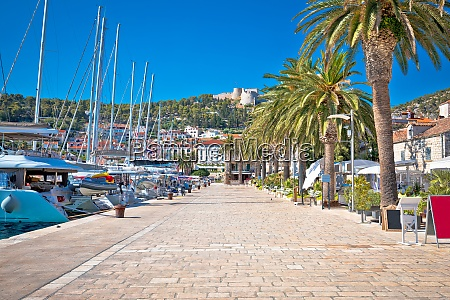 hvar yachting waterfront harbor view